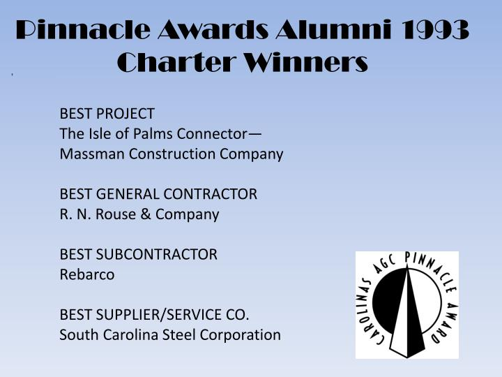 Pinnacle Awards Alumni 1993