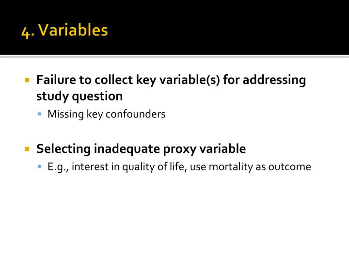 4. Variables