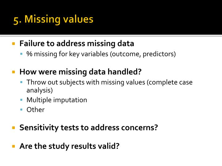 5. Missing values