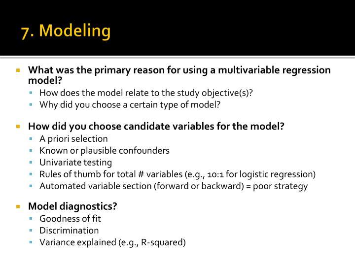 7. Modeling