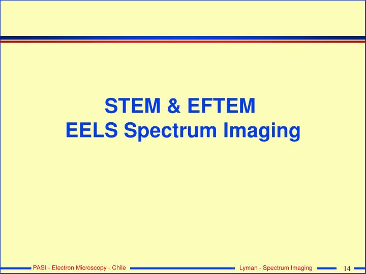 STEM & EFTEM
