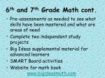 6 th and 7 th grade math cont