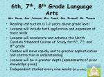 6th 7 th 8 th grade language arts mrs rouse mrs johnson mrs sneed mrs braswell ms thomas