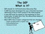 the dep what is it