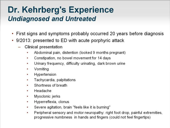 Dr. Kehrberg's Experience