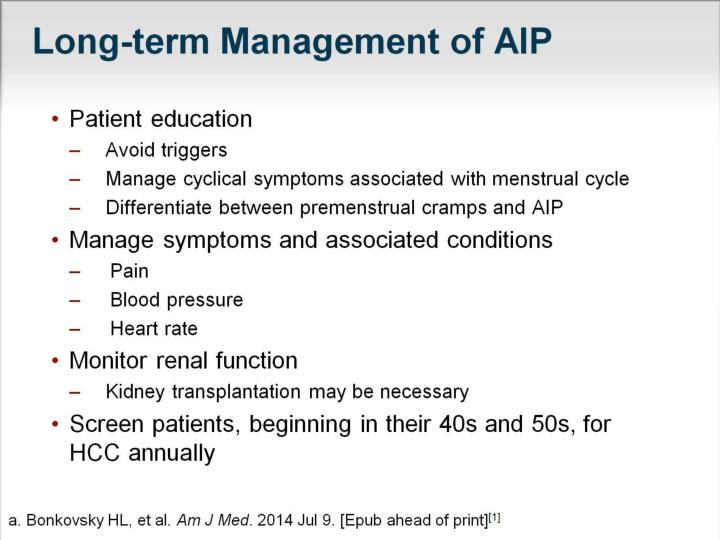 Long-term Management of AIP