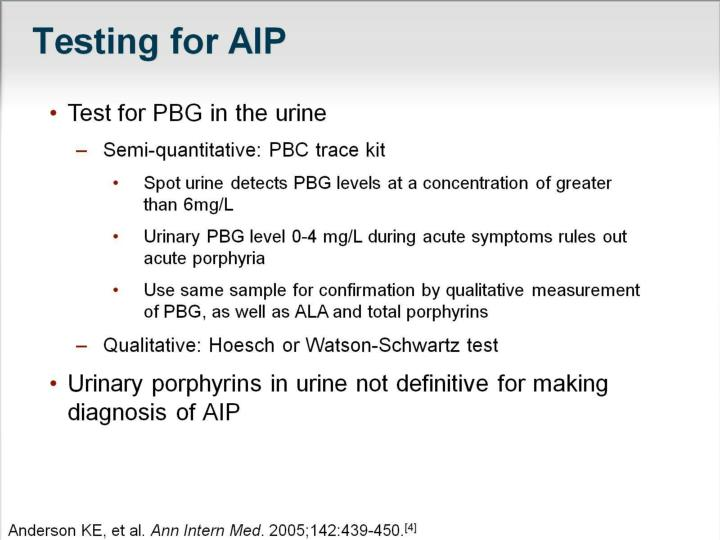 Testing for AIP