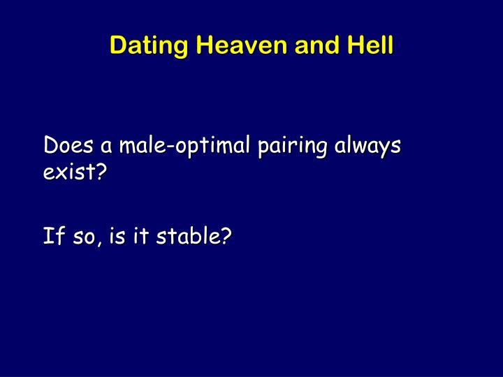 Dating Heaven and Hell