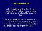 the optimal girl