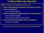 traditional marriage algorithm1