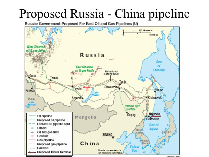 Proposed Russia - China pipeline