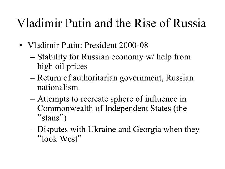 Vladimir Putin and the Rise of Russia