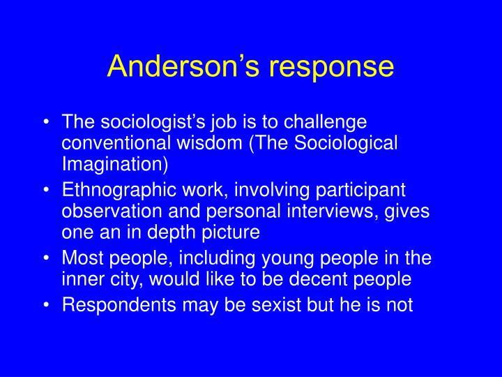 Anderson's response