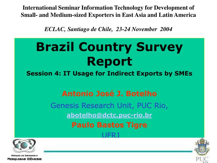 International Seminar Information Technology for Development of Small- and Medium-sized Exporters in...