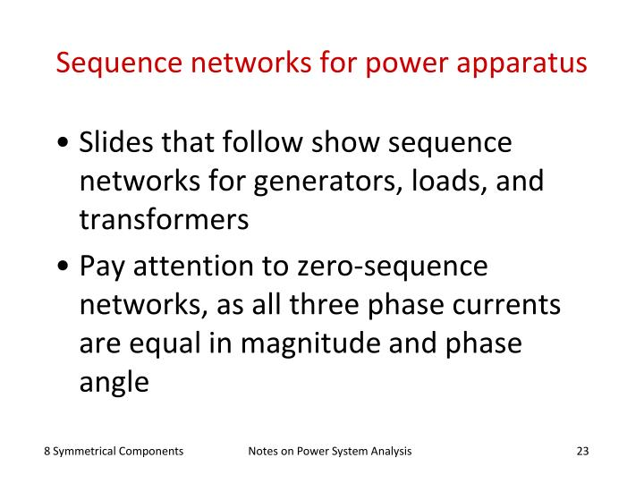 Sequence networks for power