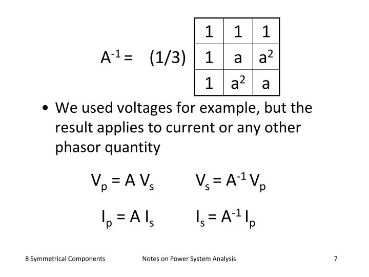 We used voltages for example, but the result applies