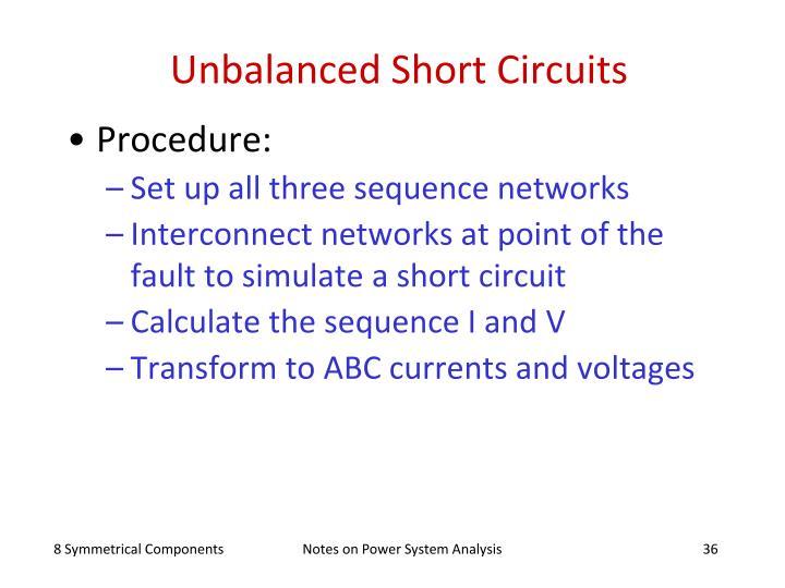 Unbalanced Short Circuits