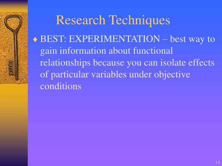 Research Techniques