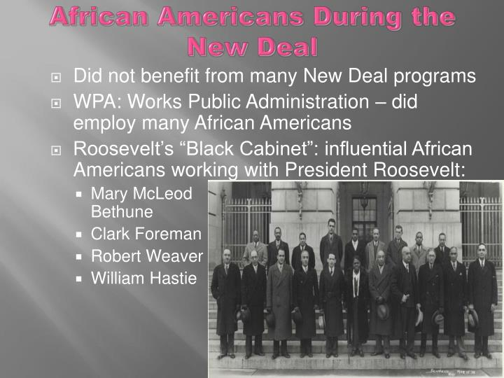 African Americans During the New Deal