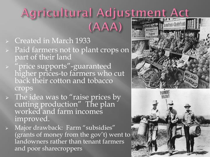 Agricultural Adjustment Act (AAA)
