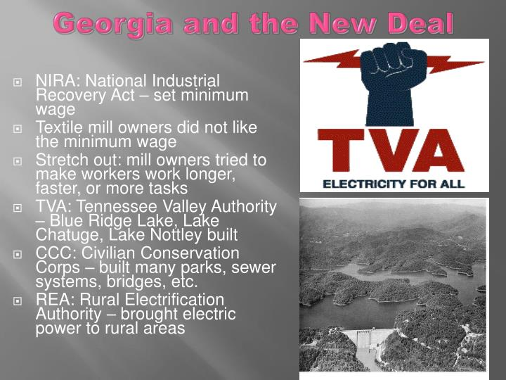 Georgia and the New Deal