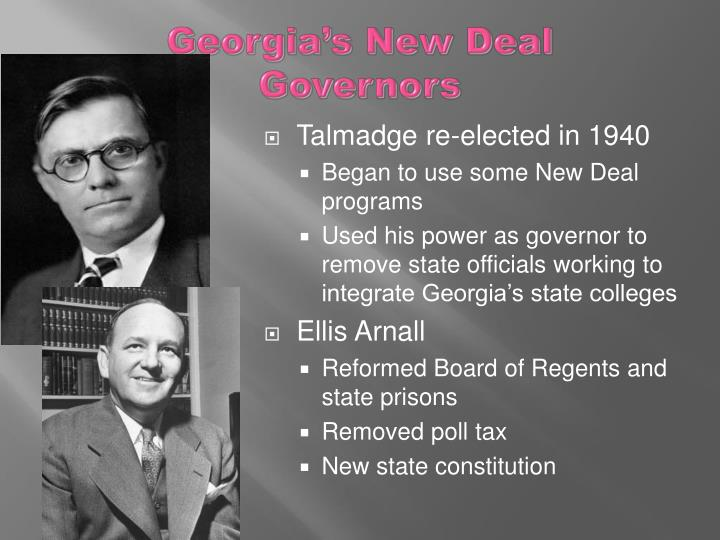 Georgia's New Deal Governors