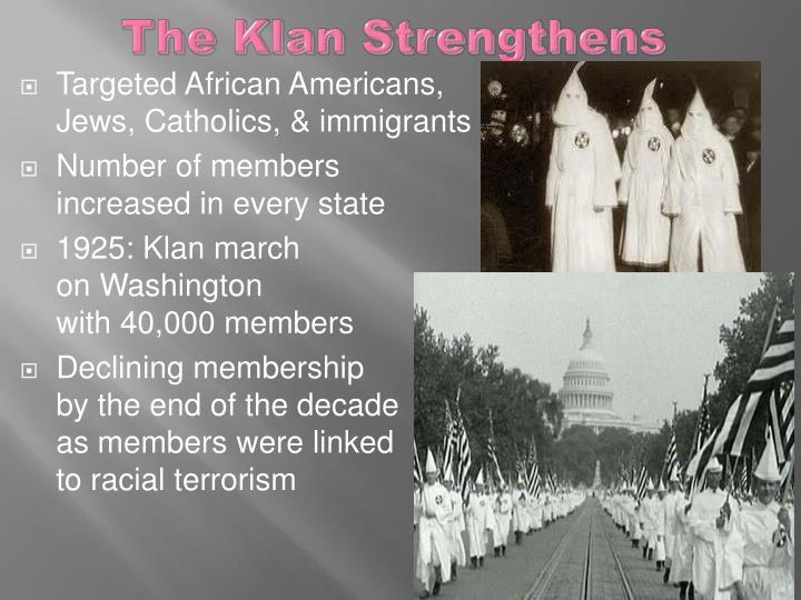 The Klan Strengthens