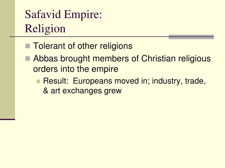 Safavid Empire: