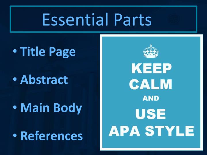 ppt - apa formatting powerpoint presentation