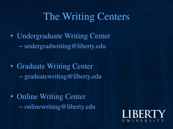 The Writing Centers