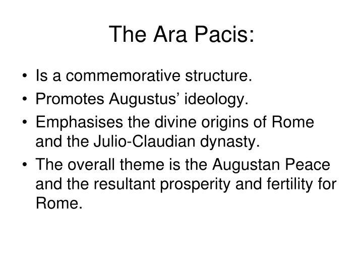 The Ara Pacis: