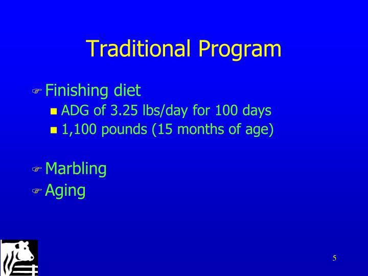 Traditional Program