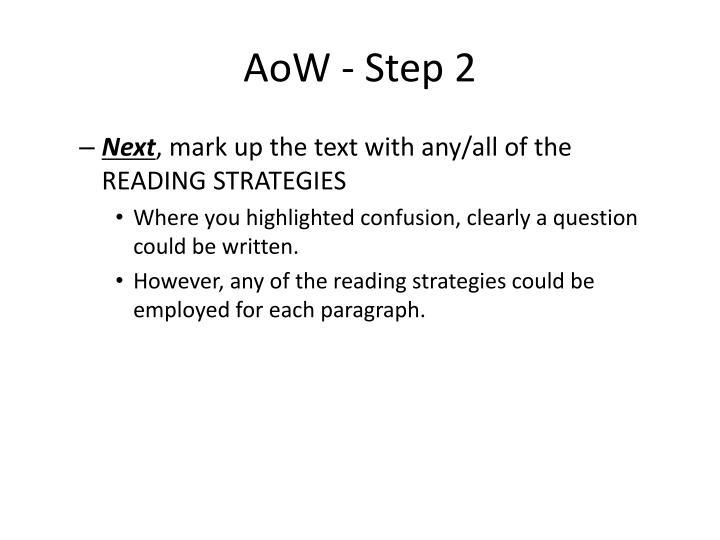 AoW - Step 2