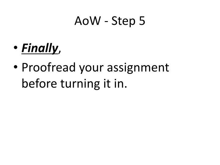 AoW - Step 5