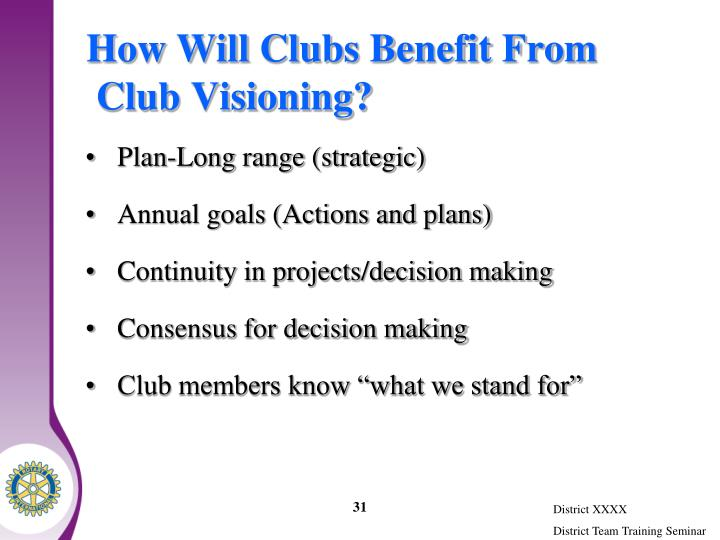How Will Clubs Benefit From