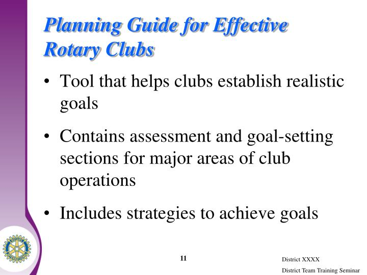 Planning Guide for Effective Rotary Clubs