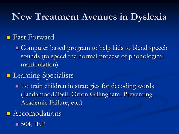Dyslexia theories and treatments essay