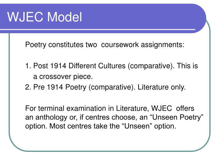 WJEC Model