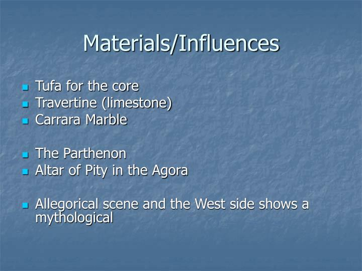 Materials/Influences