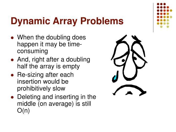 Dynamic Array Problems