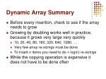 dynamic array summary1