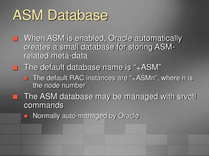 ASM Database