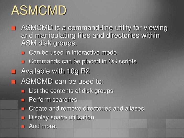ASMCMD