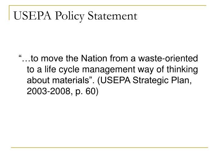 USEPA Policy Statement