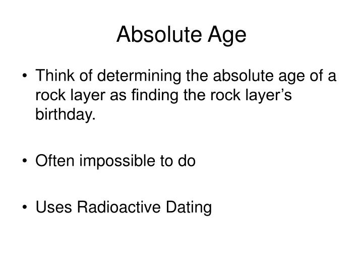 Absolute Age