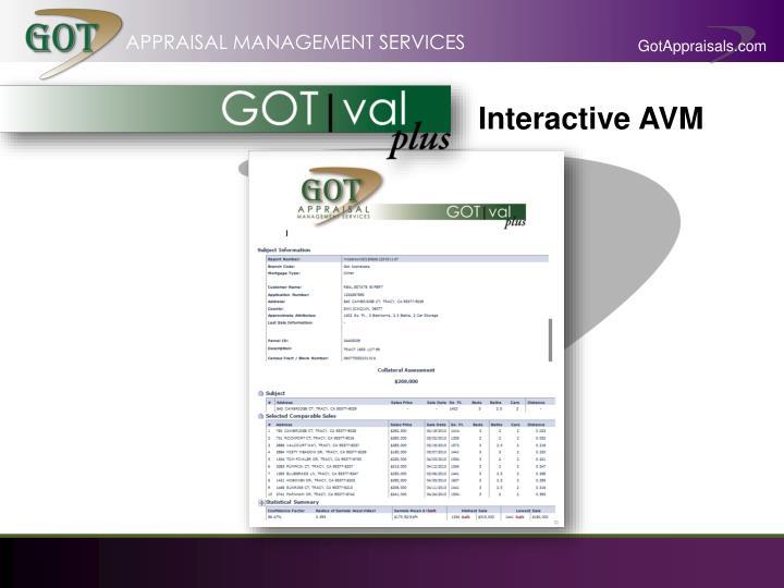Interactive AVM