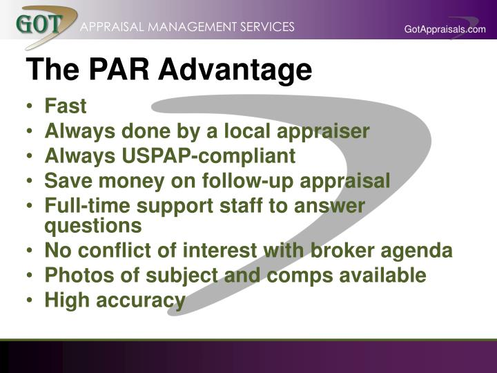 The PAR Advantage