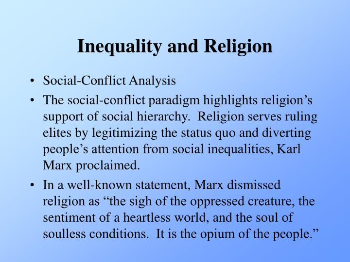 Inequality and Religion