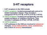 5 ht receptors