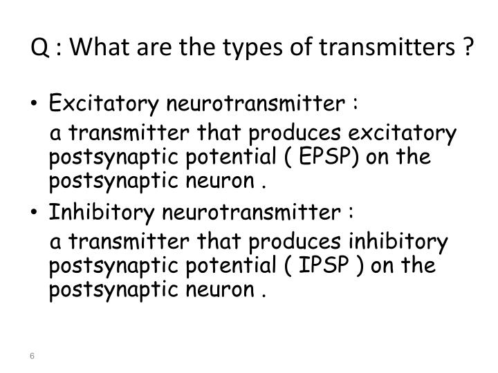 Q : What are the types of transmitters ?